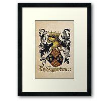 King of England Coat of Arms - Livro do Armeiro-Mor Framed Print