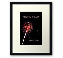 My Country Tis of Thee Framed Print
