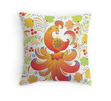 Traditional russian pattern.Khokhloma. Throw Pillow