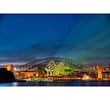 Vivid Sunset - Sydney Opera House and Harbour Bridge Photographic Print
