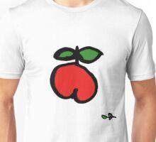 fröhlicher Apfel rot grün Unisex T-Shirt