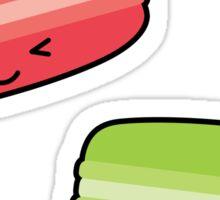 Kawaii Macaroons - Pink & Green Sticker