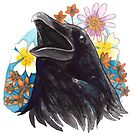 Floral Raven by ProfessorBees