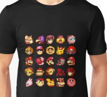Super Smash Bros. Melee Red Stock Icons Unisex T-Shirt