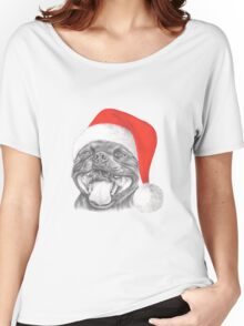 Staffie Smile Christmas - Staffordshire Bull Terrier Women's Relaxed Fit T-Shirt