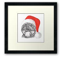 Staffie Smile Christmas - Staffordshire Bull Terrier Framed Print