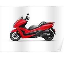 Honda Forza ABS motor scooter art photo print Poster