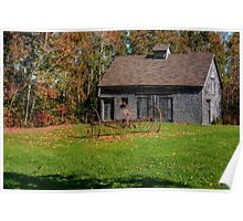 Old Barn & Rusty Farm Implement Poster