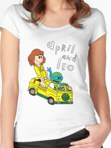 April and Leo Women's Fitted Scoop T-Shirt