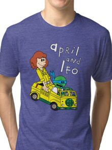 April and Leo Tri-blend T-Shirt