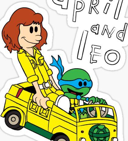 April and Leo Sticker