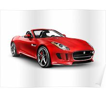 2014 Jaguar F-Type S sports car art photo print Poster
