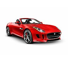 2014 Jaguar F-Type S sports car art photo print Photographic Print