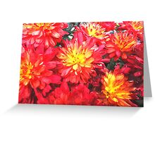 Watercolour Vibrant Red Greeting Card