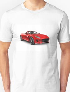 2014 Jaguar F-Type S sports car art photo print T-Shirt