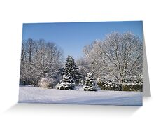 Snowy Landscape Greeting Card