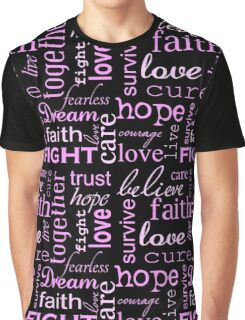 Breast Cancer - Black Graphic T-Shirt