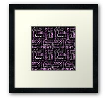 Breast Cancer - Black Framed Print