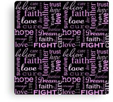 Breast Cancer - Black Canvas Print