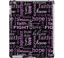 Breast Cancer - Black iPad Case/Skin