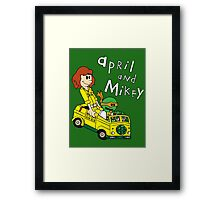 April and Mikey Framed Print
