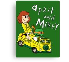 April and Mikey Canvas Print