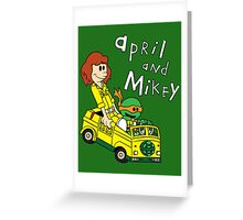 April and Mikey Greeting Card