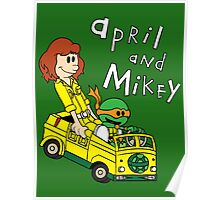 April and Mikey Poster