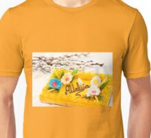 Catkins and yellow decorative Easter cake  Unisex T-Shirt