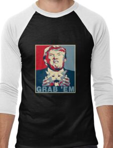 Trump Grab Em Poster Men's Baseball ¾ T-Shirt