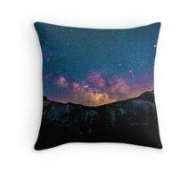 Colorful Night Sky Throw Pillow