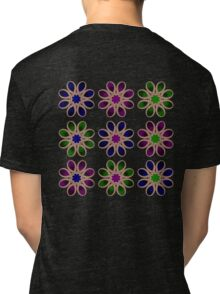 Fading Foot Flowers Tri-blend T-Shirt