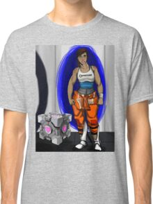 Chell and Her Companion Cube Classic T-Shirt