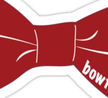 bowtiesarecool - Red Sticker
