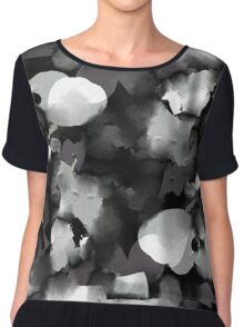 Raw Paint 2 - Black and White Chiffon Top