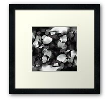Raw Paint 2 - Black and White Framed Print