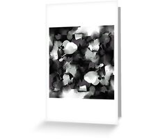 Raw Paint 2 - Black and White Greeting Card