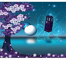 Midnight Sakura Dr Who Digital Art Photographic Print