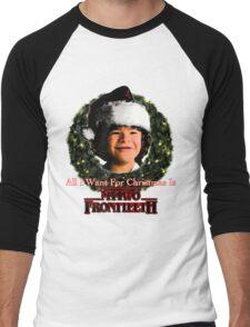 Stranger Things Christmas (Dustin Wants) Men's Baseball ¾ T-Shirt
