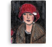 The Red Hat 1920's #1 in a Series Canvas Print