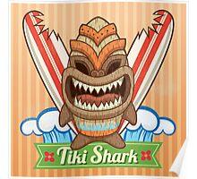 Tiki Shark Poster
