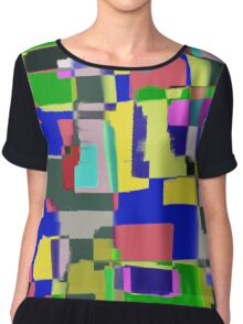 Raw Paint 3 - Abstract Colour Chiffon Top