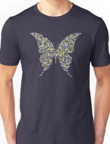 Butterfly Psycedelic Illustration Colorful Cool Retro Vintage Hippie Natural Nature T-Shirts Unisex T-Shirt