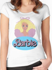 Barbie- Old Logo Women's Fitted Scoop T-Shirt