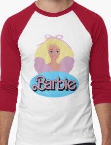 Barbie- Old Logo Men's Baseball ¾ T-Shirt