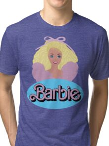 Barbie- Old Logo Tri-blend T-Shirt