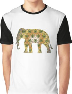 Elephant Psychedelic Animal Lover Nature Hippie Cool Wild Life Illustration Design T-Shirts Graphic T-Shirt