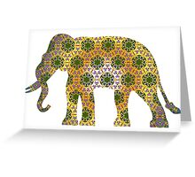 Elephant Psychedelic Animal Lover Nature Hippie Cool Wild Life Illustration Design T-Shirts Greeting Card