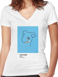 Lapras Pantone Women's Fitted V-Neck T-Shirt