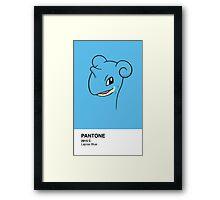 Lapras Pantone Framed Print